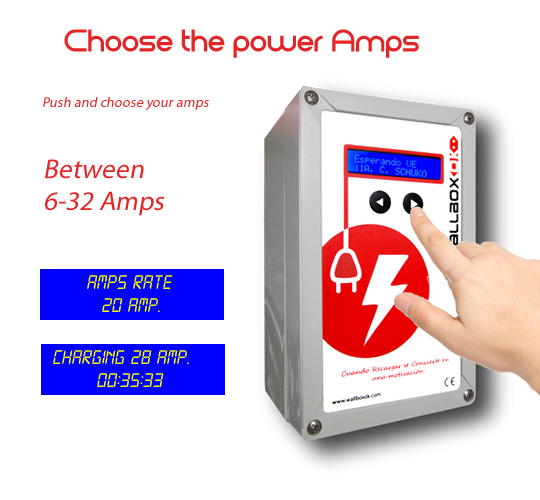 select amp rate EVSE